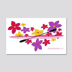 flowerpowerkayak 20x12 Wall Decal