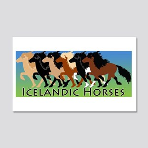 Icelandic Horses 20x12 Wall Decal