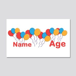 CUSTOMIZE NAME and AGE Birthday Wall Decal