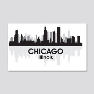 Chicago Skyline 20x12 Wall Decal