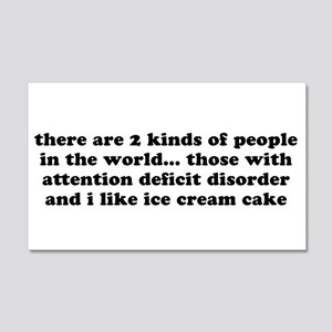 Funny Adhd Quote Wall Decals - CafePress