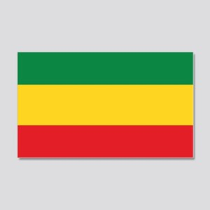Green, Gold and Red Flag Wall Sticker