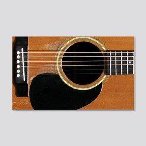 Old, Acoustic Guitar 20x12 Wall Decal