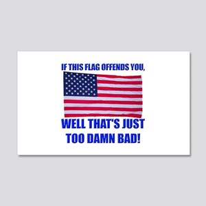 Flag3a 20x12 Wall Decal