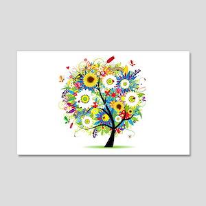 summer tree 22x14 Wall Peel