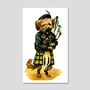 Scottish Terrier playing Bagpipes 20x12 Wall Decal