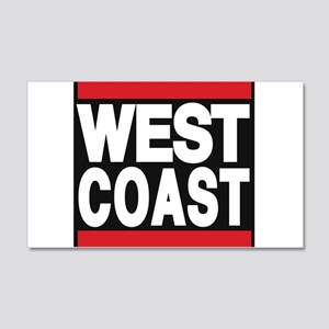 west coast red Wall Decal