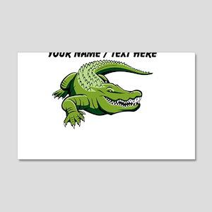 Custom Green Alligator Cartoon Wall Decal