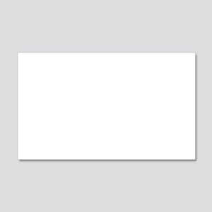 Fight and Die 20x12 Wall Decal