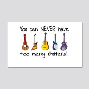 Too many guitars Wall Decal