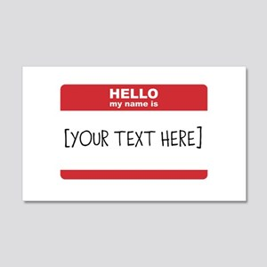 Name Tag Big Personalize It Wall Decal
