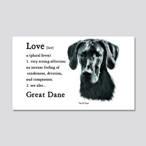 Great Dane (Black) Gifts 20x12 Wall Peel