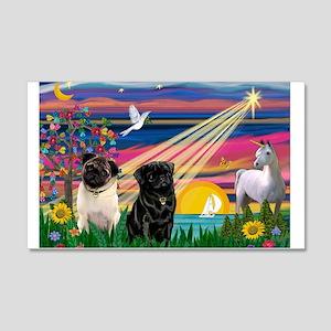 Pug Magical Night 22x14 Wall Peel
