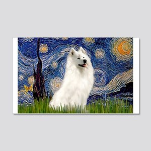 Starry / Samoyed 20x12 Wall Decal