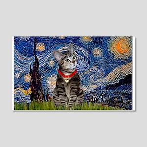 Starry Night / Tiger Cat 22x14 Wall Peel