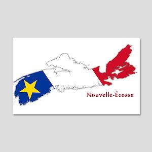 Acadian Flag Nova Scotia 22x14 Wall Peel