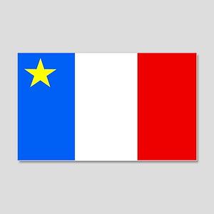 Acadia Flag 20x12 Wall Peel