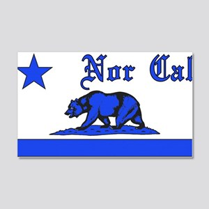 nor cal bear blue Wall Decal