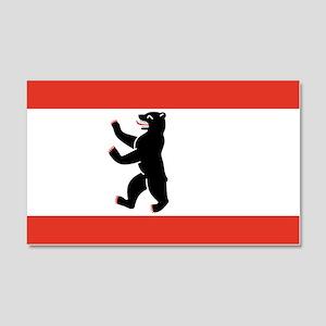 Flag of Berlin 20x12 Wall Decal