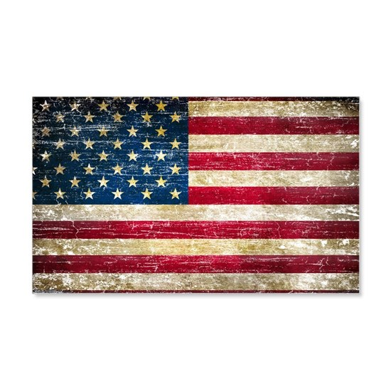 Faded American Flag Wall Decal By Dan