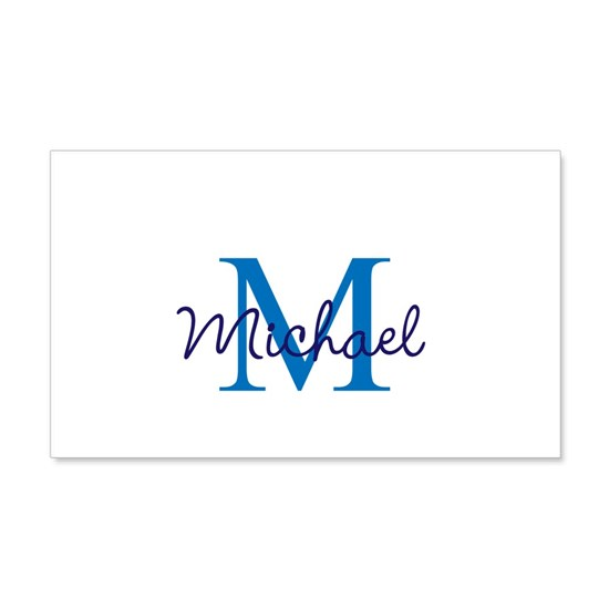 Customize Monogram Blue