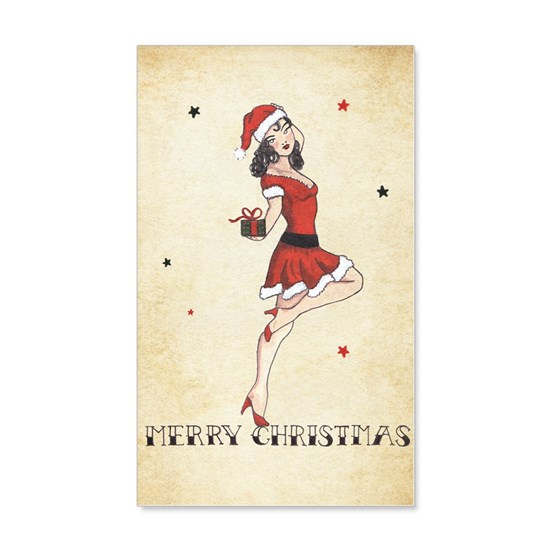 Vintage pinup tattoo flash Christmas cards