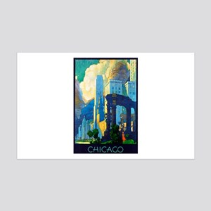 Chicago Travel Poster 3 35x21 Wall Decal