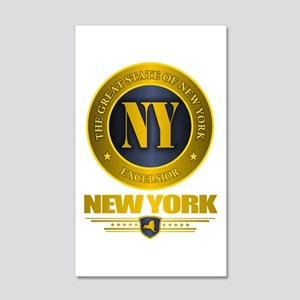 New York Gold Label 35x21 Wall Decal