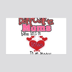 Lots of Love Daycare Moms 35x21 Wall Decal