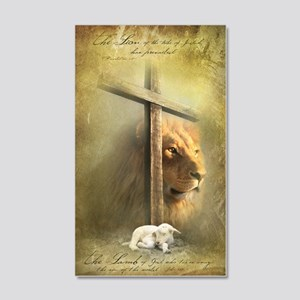 Lion of Judah, Lamb of God 35x21 Wall Decal