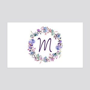 Bohemian Floral Wreath Monogram Wall Decal