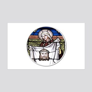 St. Veronica Stained Glass Window 35x21 Wall Decal