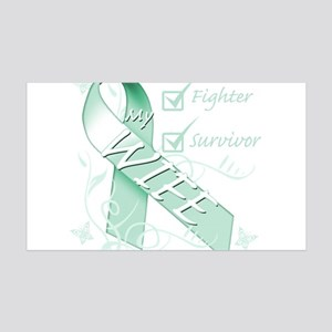 Wife is a Fighter and Survivor 35x21 Wall Deca