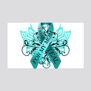 I Wear Teal for my Mom 35x21 Wall Decal