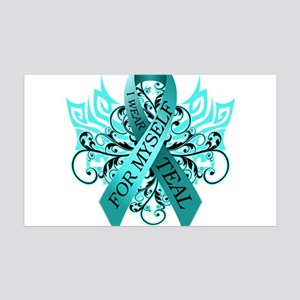I Wear Teal for Myself 35x21 Wall Decal
