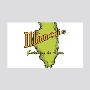 Illinois - Gateway To Iowa 35x21 Wall Decal