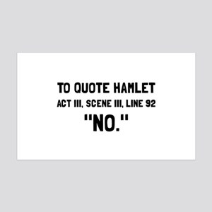 Hamlet Quote Wall Decal