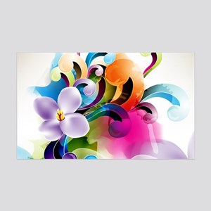 floral 35x21 Wall Decal