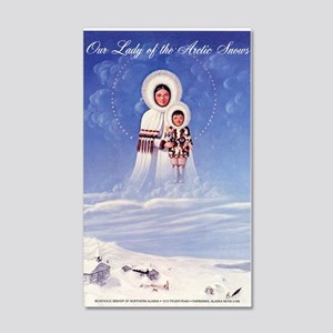 Our Lady of the Arctic Snows 35x21 Wall Decal