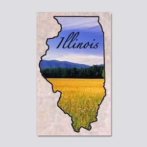 Illinois 35x21 Wall Decal