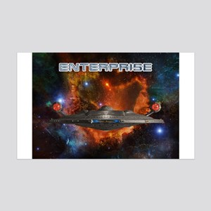 ENTERPRISE Orange 35x21 Wall Decal