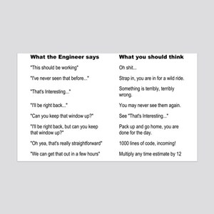 Engineer Translation Guide 35x21 Wall Decal