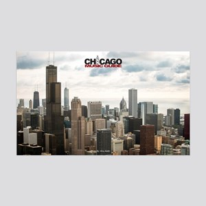 Chicago Design #4 With Logo 35x21 Wall Decal
