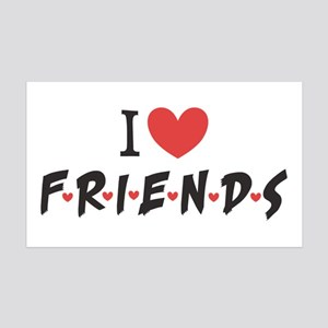 I heart Friends TV Show 35x21 Wall Decal