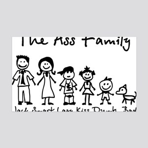 ass family 35x21 Wall Decal