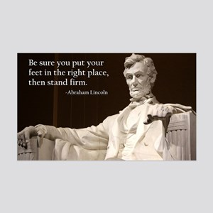 Lincoln Inspirational Quote 35x21 Wall Decal