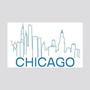 Chicago Blue Line Wall Decal