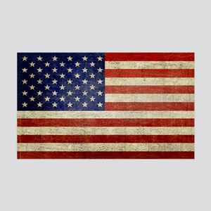 5x3rect_sticker_american_flag_old 35x21 Wall Decal