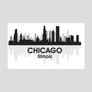 Chicago Skyline 35x21 Wall Decal