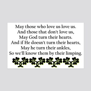 Irish Blessing? 35x21 Wall Decal